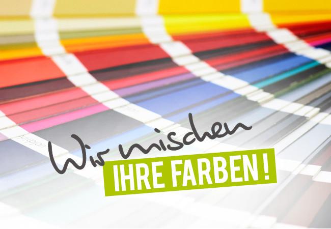 Wir mischen Ihre Farben - Hochwertige Farben mit unserer Mischanlage - bbi zertifiziert
