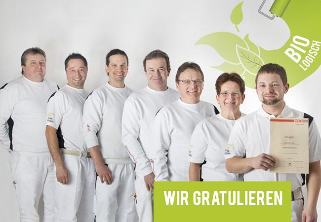 Rainbacher KG Team - Markus Meisterprüfung Gratulation