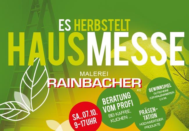 """""""HAUSMESSE"""" - es herbstelt in der Malerei Rainbacher"""