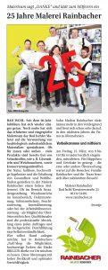 25 Jahre Malerei Rainbacher - zum Presseartikel