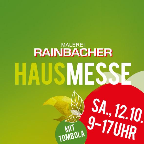 """HAUSMESSE"" Malerei Rainbacher am Sa., 12. Oktober 2019"